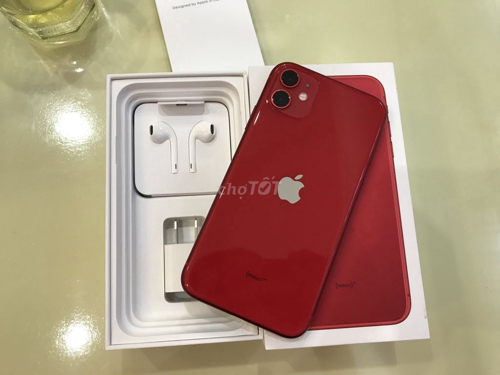 0989014814 - Iphone 11 64G RED QT mới 99 fulbox CBH 11/2020 FPT