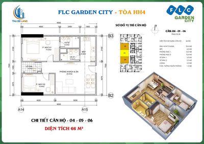 Bán căn hộ 66m2 2PN 2VS Tòa HH4 FLC Đại Mỗ