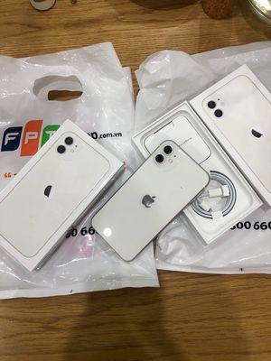 Iphone 11 màu trắng 64gb chính hãng FPT CHƯA DÙNG