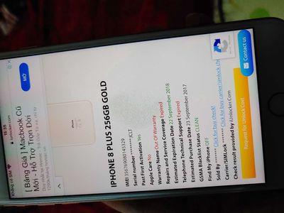 Iphone 8plus gold 256gb ios13 hiếm zin Nhận GL