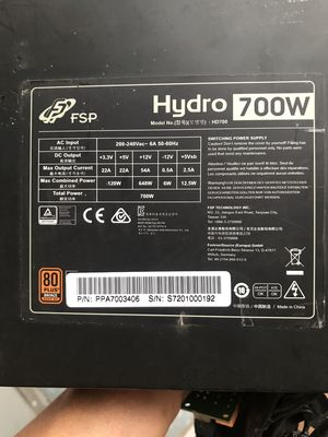 Vài bộ nguồn cho trâu Hydro 700W-SevenTeam 850W