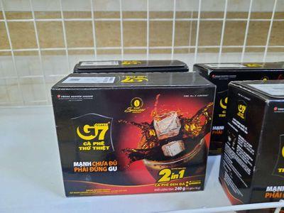 7 Hộp cà phê G7 2in1. Cà phê đen đường. Giá 210k