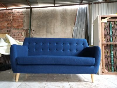 Ghế sofa vải bố khung gỗ dầu kích thước 1650x800