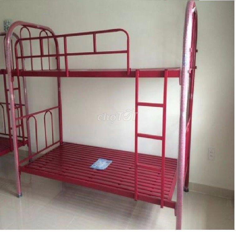 giường tầng mẫu mới sắt dày, phòng trọ kxt