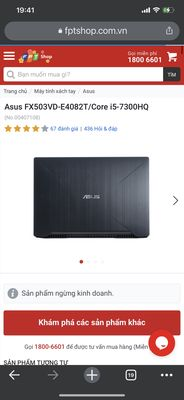 Bán laptop Asus fx503vd i5 7300hq, ram16gb