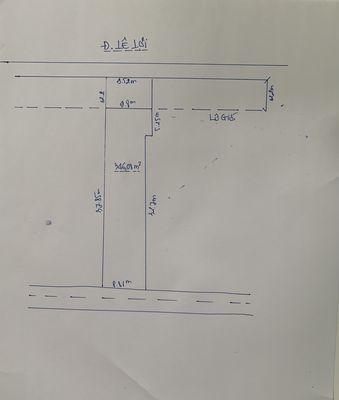Bán nhà đất mặt tiền đường Lê Lợi, DT: 9.82m x 37m