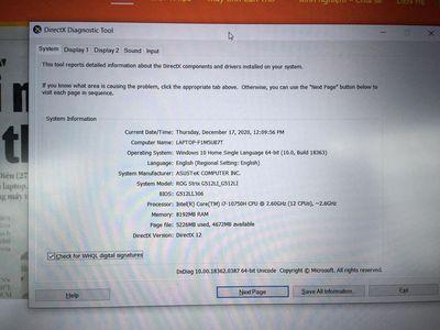 ASUS ROG STRIX G512-i7-10750H-8Gb-512Gb-GTX1650ti