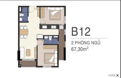 Căn hộ Lavita Charm 68m² 2PN, Ngã tư Bình Thái