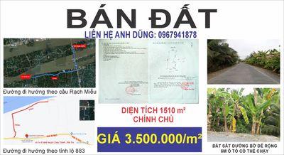 Đất Xã An Khánh - Châu Thành Bến Tre 1510 m2