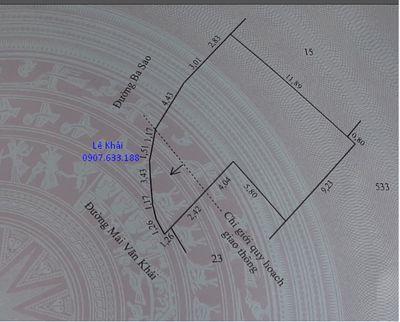 Bán nền góc 140m2, đường Mai Văn Khải, xã Mỹ Tân
