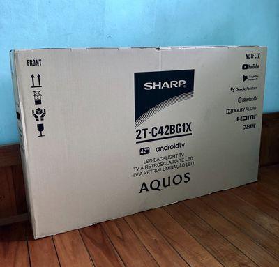 """Android TV Sharp 42"""" Giọng nói NEW BH 24T, bao lắp"""