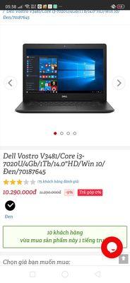 """Dell Vostro V3481/Core i3-7020U/4Gb/1Tb/14.0""""HD/Wi"""