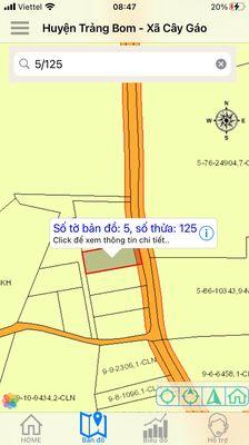 Đất Huyện Trảng Bom 1000m²