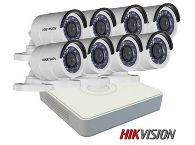 Trọn bộ 8 camera Hikvision mới 100%, FULL công lắp