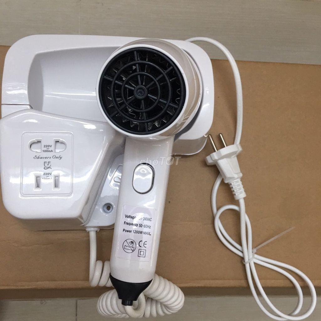 0774462480 - Máy sấy tóc treo tường có ổ cắm cao cấp