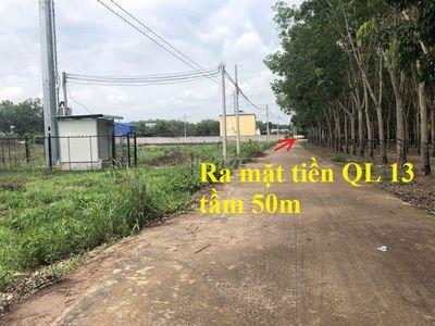 Đất mặt tiền đường thông ra QL13 GẦN trạm THU PHÍ