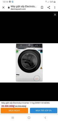 Máy giặt sấy electrolux 11kg/ EWW1141AEWA new