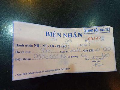 pass vé đi Nha Trang- Sài Gòn xe Hùynh Gia