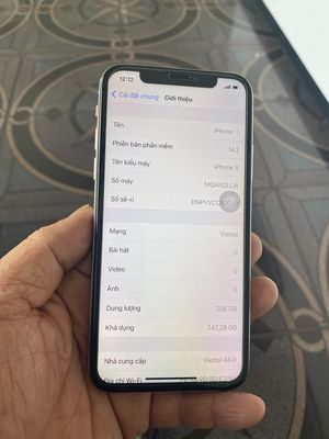 Apple iPhone X 256G trắng QT Mỹ mất Face ID
