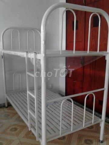 giường sắt hai tầng phòng trọ, ktx, FREE SHIP