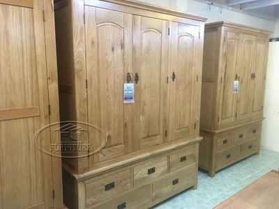 tủ áo quần gỗ sồi mỹ 3 buồng 1m4