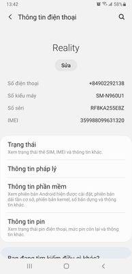 Samsung Note 9 bản Mỹ 6G/128 còn nguyên.