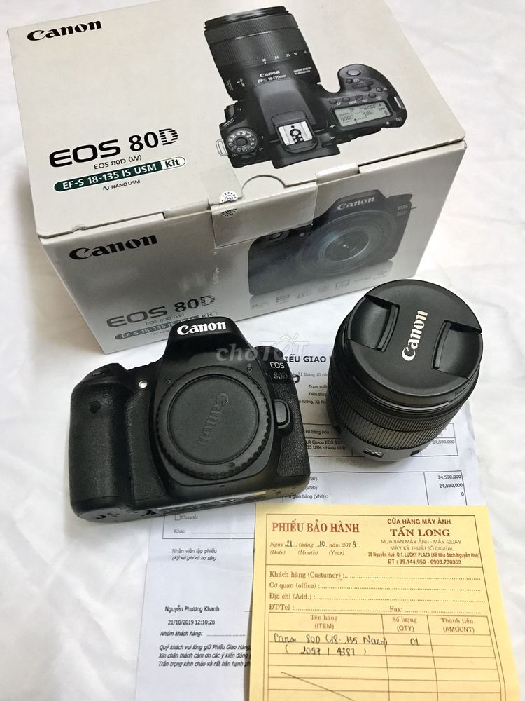 Canon EOS 80D kit EF-S 18-135mm (New -4,000,000đ)