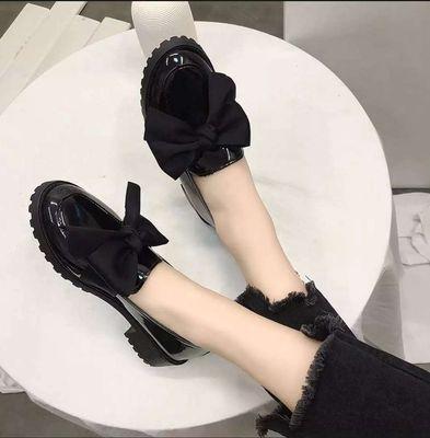 Giày Oxford buộc nơ da bóng