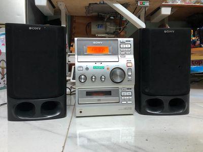 Dàn Sony CD casset FM hoạt động tốt âm thanh hay