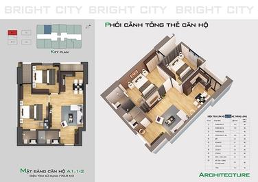 Chung cư Bright City 70m² 3PN