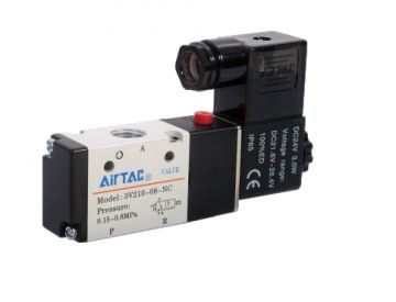 Contactor CHINT 3P NXC18, Solenoid Airtac 4V210-08