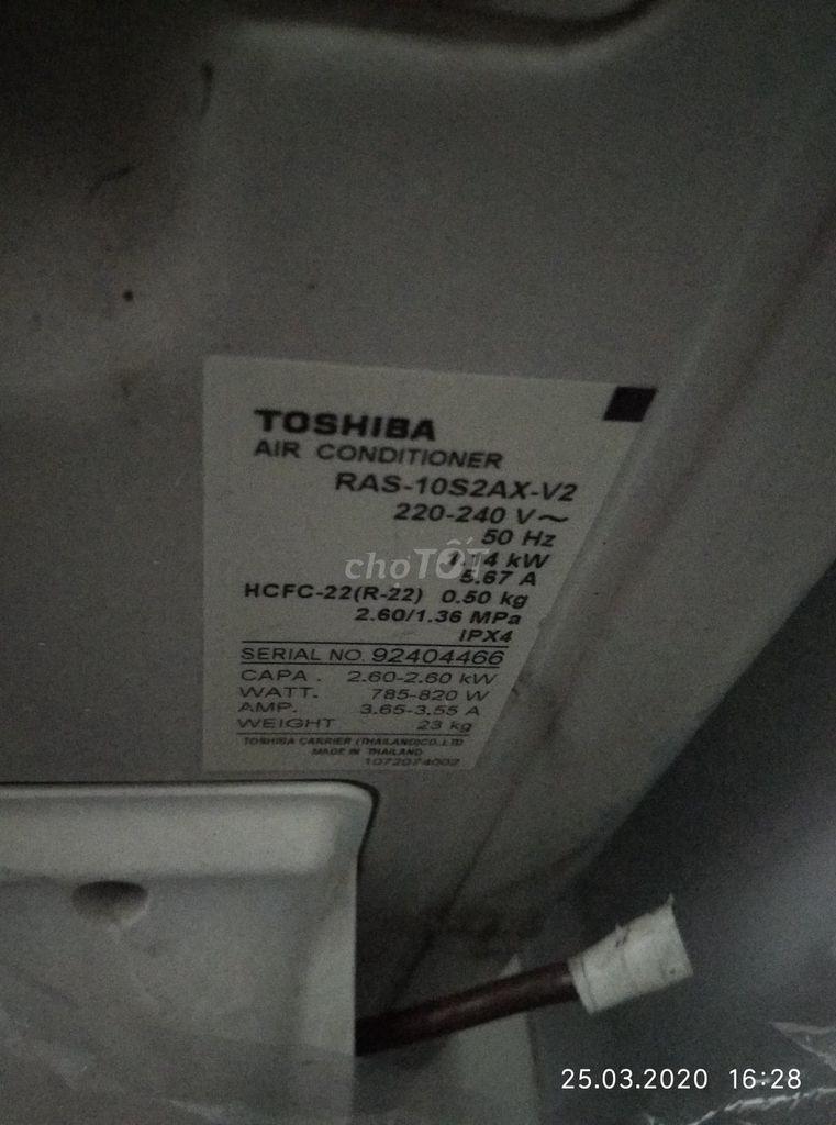 0815548499 - Máy lạnh dàn zin TOSHIBA, 1 ngựa, Gas R22
