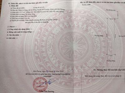 CC Bán Đất Xã An Hồng Huyện An Dương 138m²