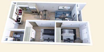 Bán chung cư thành phố Bắc Giang, 2 phòng ngủ