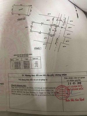 Nhà Đường Quang Trung gò vấp hxh 3lầu giá 4,75 tỷ