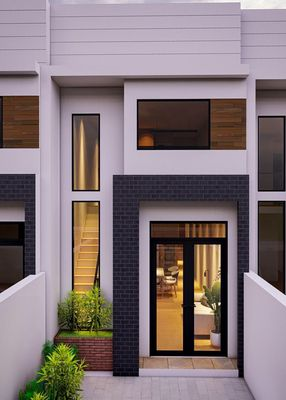 Nhà ở liền kề hiện đại 1 trệt, 1 lầu, 88 m2