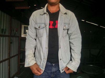 Áo khoác jean nam mã 1,từ 65kg đổ xuống