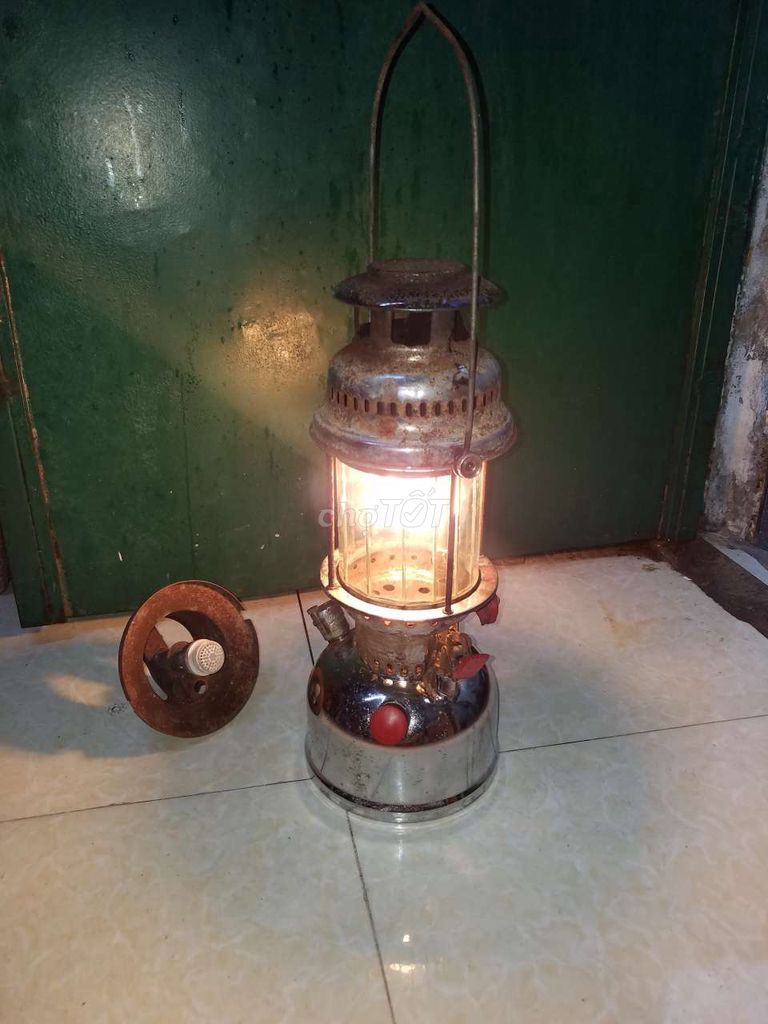 Đèn măng xong kim loại thép