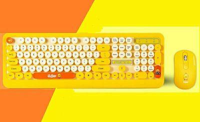 Bộ bàn phím chuột ko dây Phím tròn k68