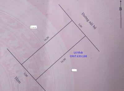 Bán nền 80m2 (5x16, thổ 100%) KDC Nhị Mỹ, Cao Lãnh