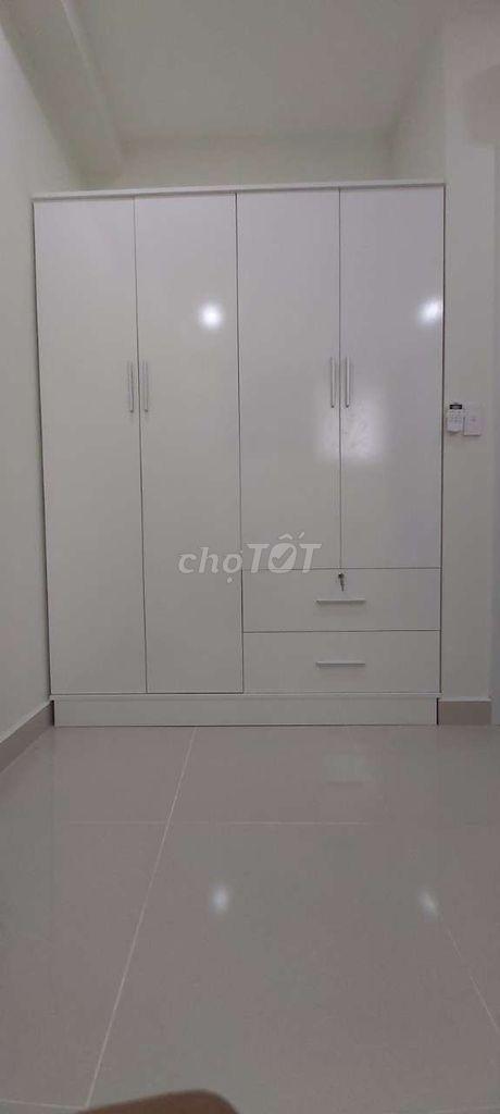 0916623036 - Thi công tủ áo HDF melamine, full phụ kiện