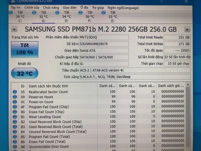 Ssd m2 sata 256Gb Samsung