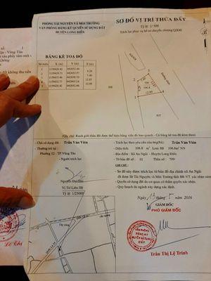 Cần tiền bán gấp 107m2 đất mặt tiền DT48 Long Điền