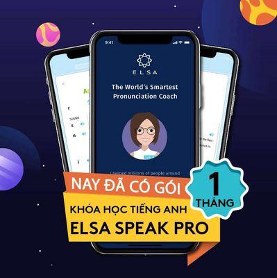 [Voucher] Khóa học phát âm ELSA SPEAK 1 tháng