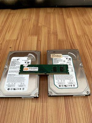 RAM DDR4 PC 4G + 2HDD 80G giá rẻ cho ae