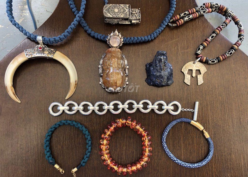 0906806092 - Dọn nhà: Nhẫn, dây chuyền, vòng tay, đá quý gluu