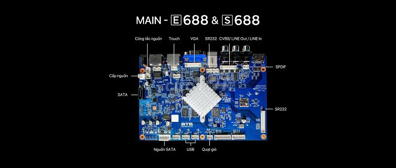 0935686996 - Đầu karaoke liền màn hình BTE E688 4T 21.5 inch