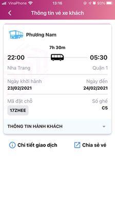 Vé Nha Trang - Sài Gòn 23/2 (12 tháng giêng)