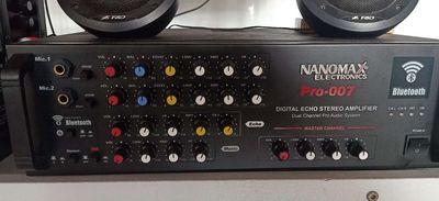 1 Amply Nanomax + 1 cặp loa đứng Yamaha 4 bass