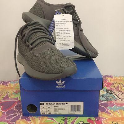 Giày Adidas Tubular Shadow size 37 xanh rêu